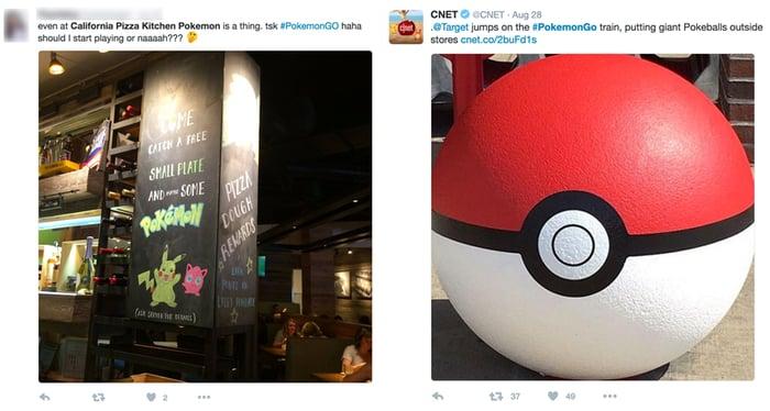 Businesses using Pokemon Go_Twitter