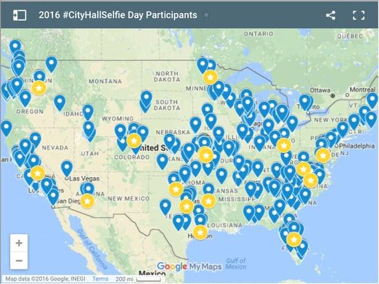 CityHallSelfie Day Map
