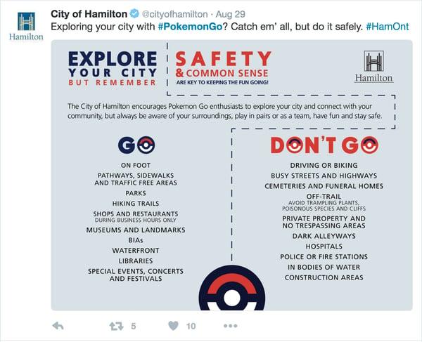 Hamilton Pokemon Go PSA_Twitter