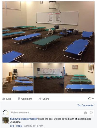 Senior Center Shelter FB