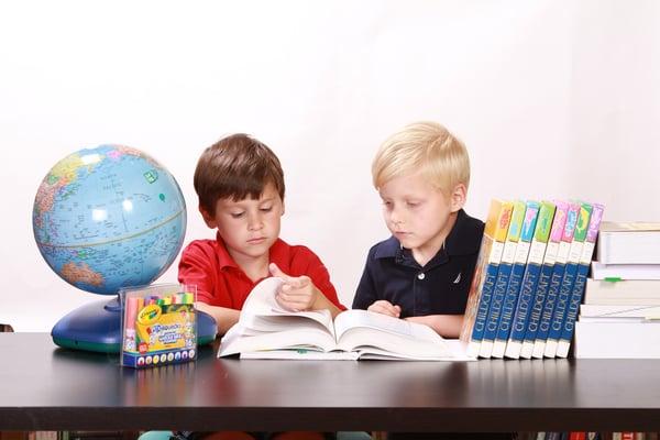 Grade-school children learning. CC0