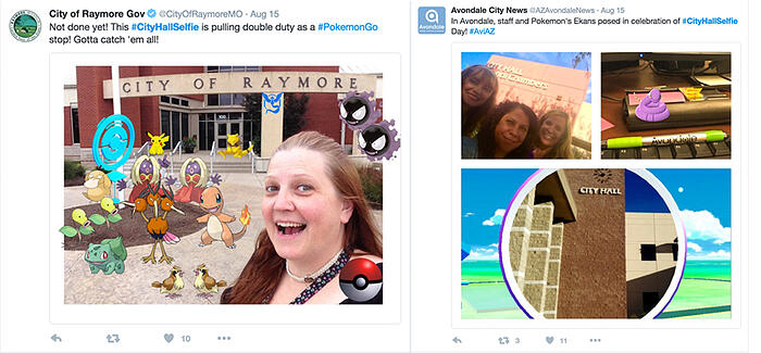Local governments using Pokemon Go_Twitter