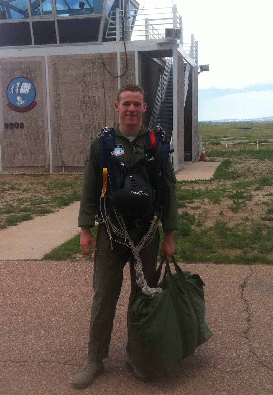 Polco data scientist Parker Quinn at Air Force base